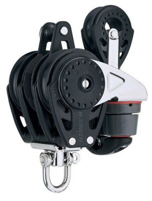 Harken+Carbo+57mm+Trippel+Cam+with+becket+and+40mm+block